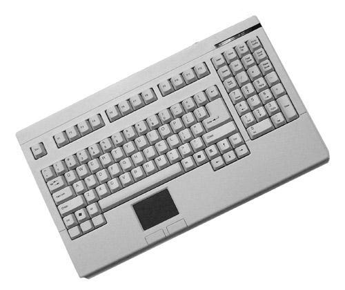Adesso Easy-Touch Keyboard with Touchpad (White)