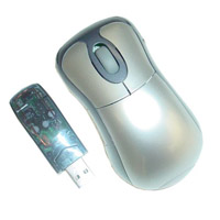 3-Button Mini-Optical Wireless Mouse