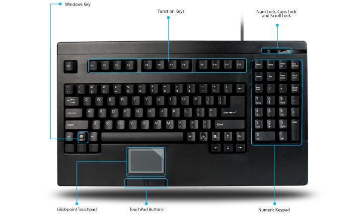 Easytouch 730 Touchpad Keyboard Black Usb Easytouch