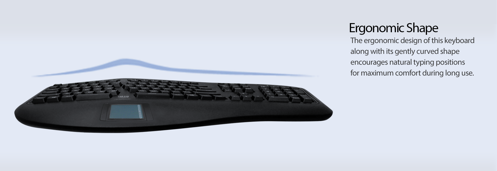 3D Ergonomic Touchpad Keyboard