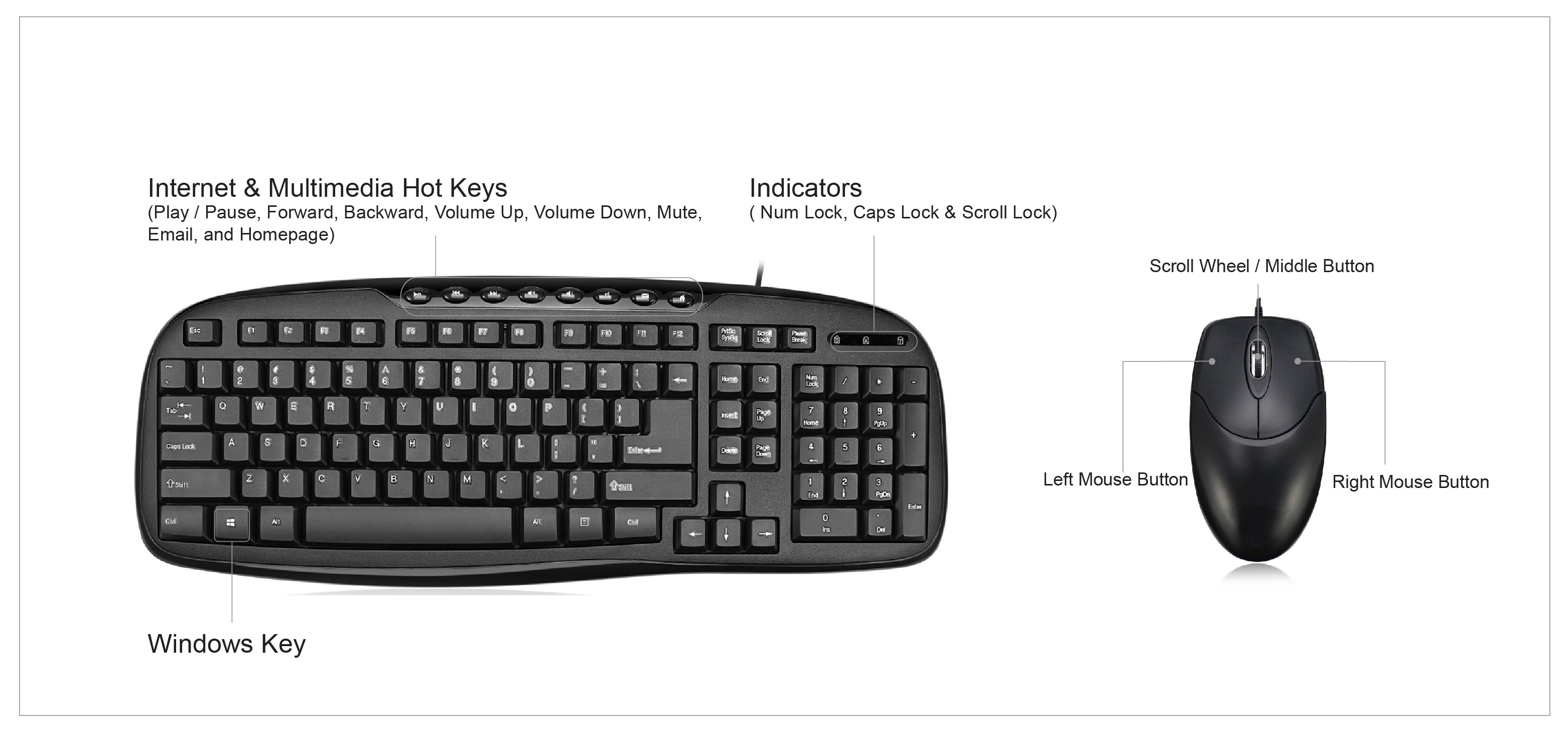 product description: keyboard specification: