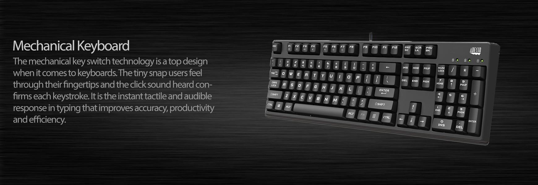 Full Size Mechanical Gaming Keyboard