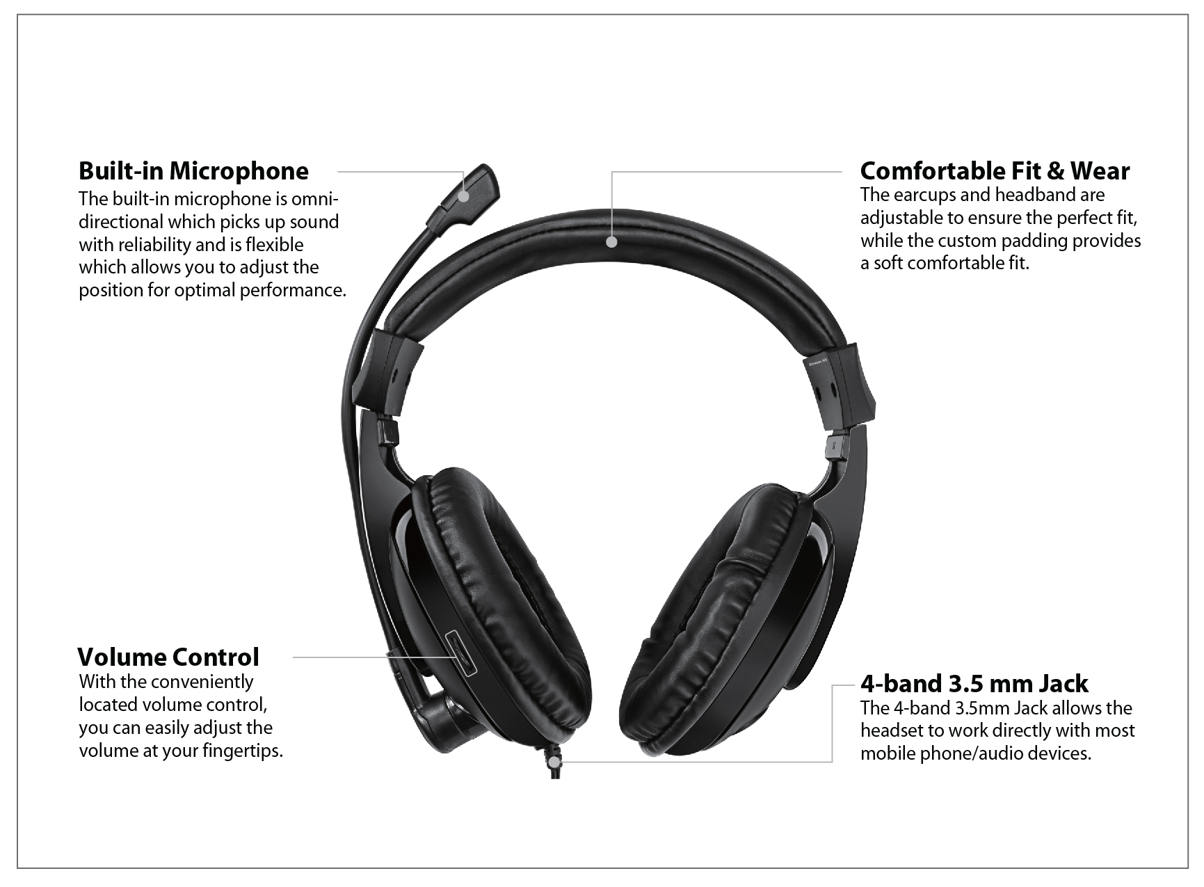 xtream h5 - multimedia headphone  headset with microphone