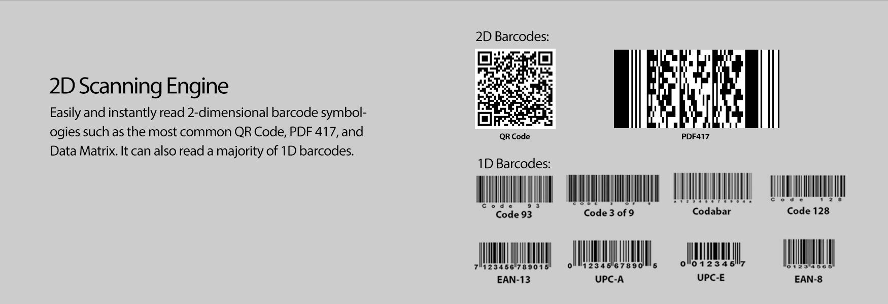NuScan™ 7400TR 2 4 GHz Wireless 2D Barcode Scanner