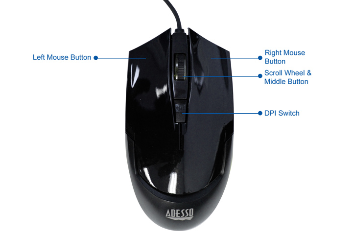 Imouse G1 Illuminated Desktop Mouse