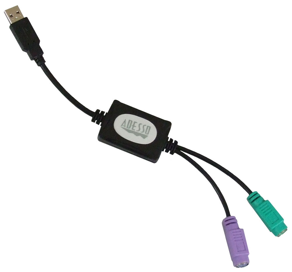 Adp Pu21 Ps 2 To Usb Adapter For Keyboard And Mouse Adesso Inc Converter Ps2 Your Input Device Specialist
