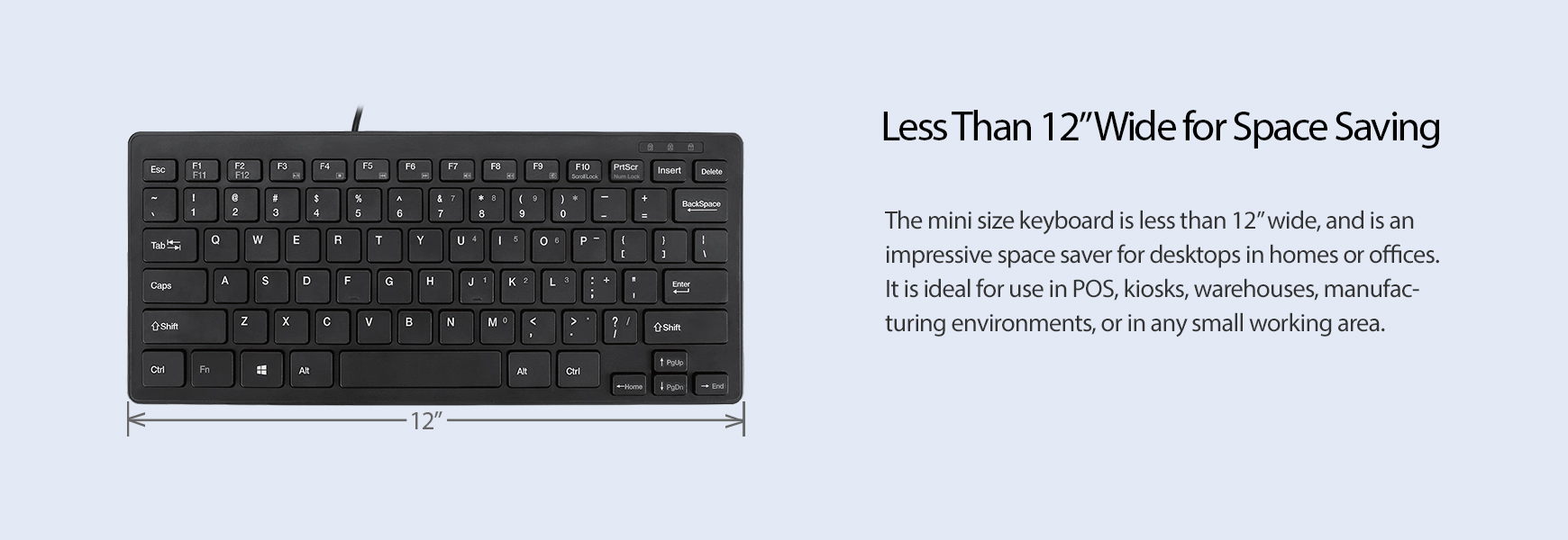 AKB-111UB SlimTouch™ Mini Keyboard