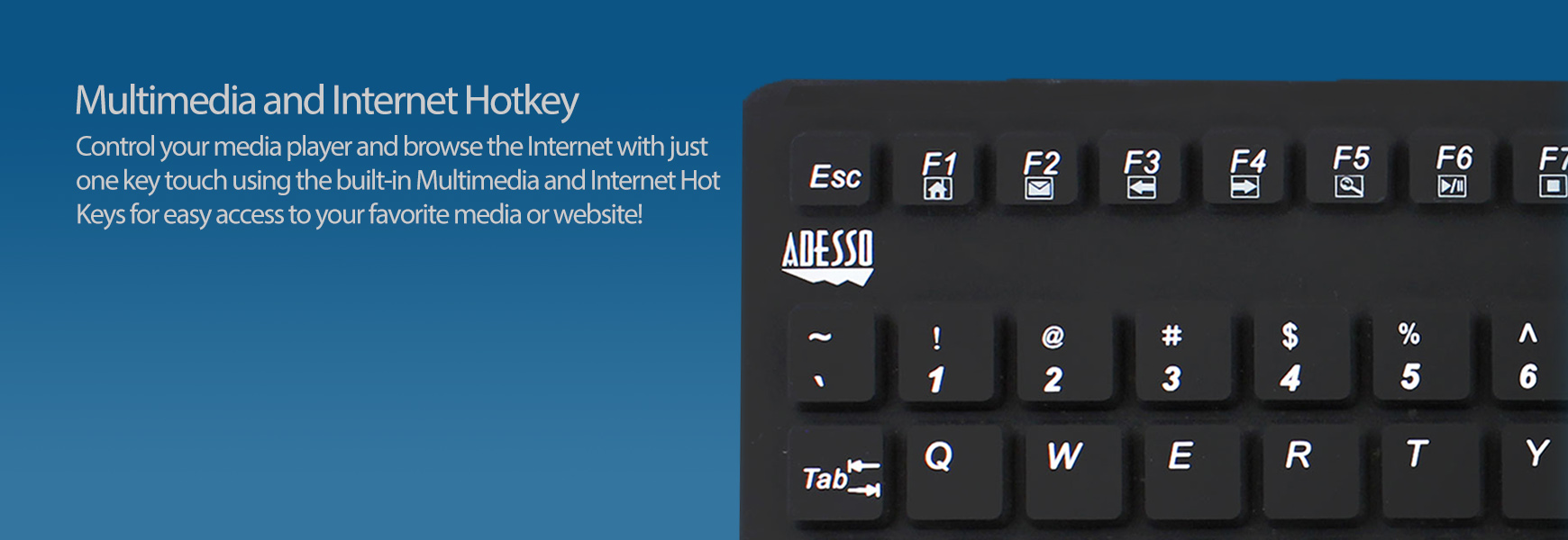 SlimTouch™ 270 - Antimicrobial Waterproof Touchpad Keyboard