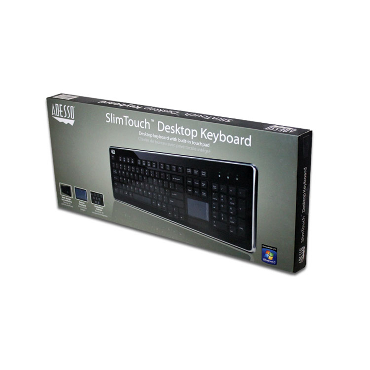 slimtouch 440 desktop touchpad keyboard adesso inc your
