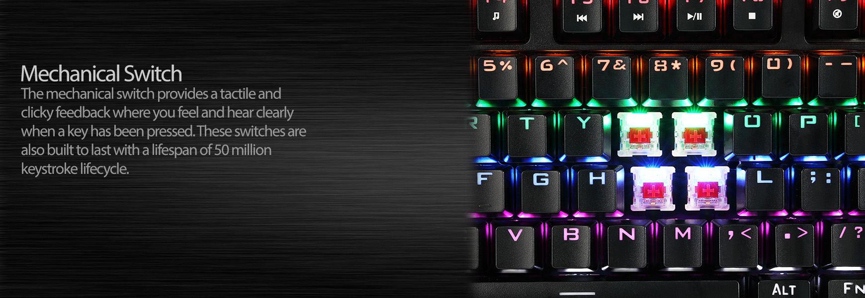 Multi Color Illuminated Mechanical Gaming Keyboard Adesso Inc Your Input Device Specialist