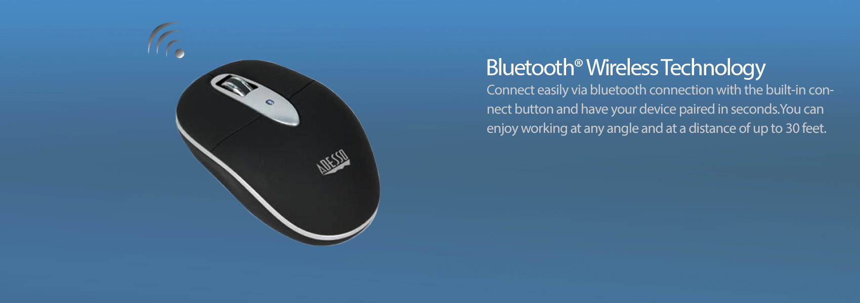 Imouse S100 Bluetooth Mini Optical Scroll Mouse Adesso Inc Wireless Advence W10 Techology This Mouth Fits Perfectly With Your Windows 8 7 Vista Xp And Mac Os X Systems It Allows Users To Work Freely