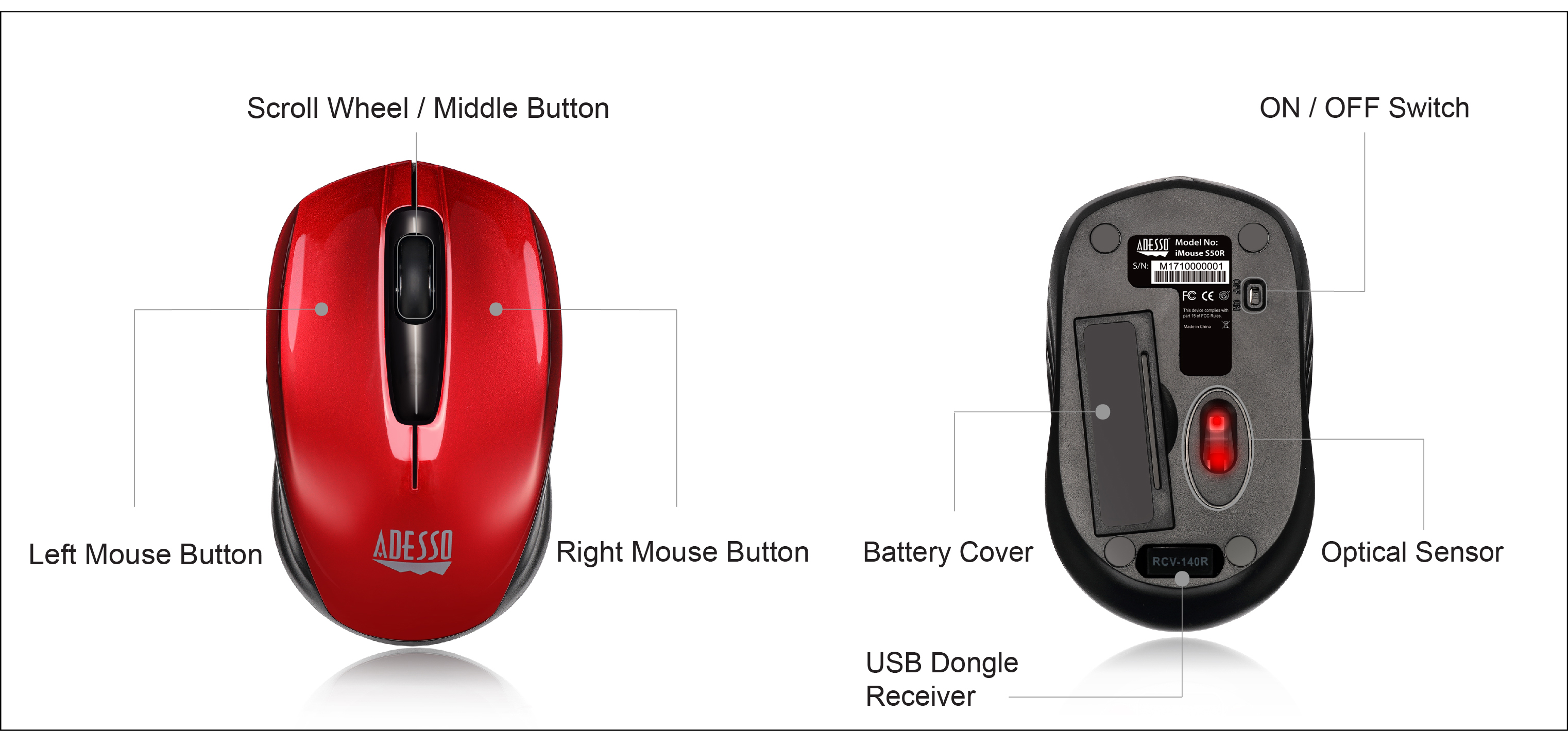 Imouse S50r - 2 4ghz Wireless Mini Mouse