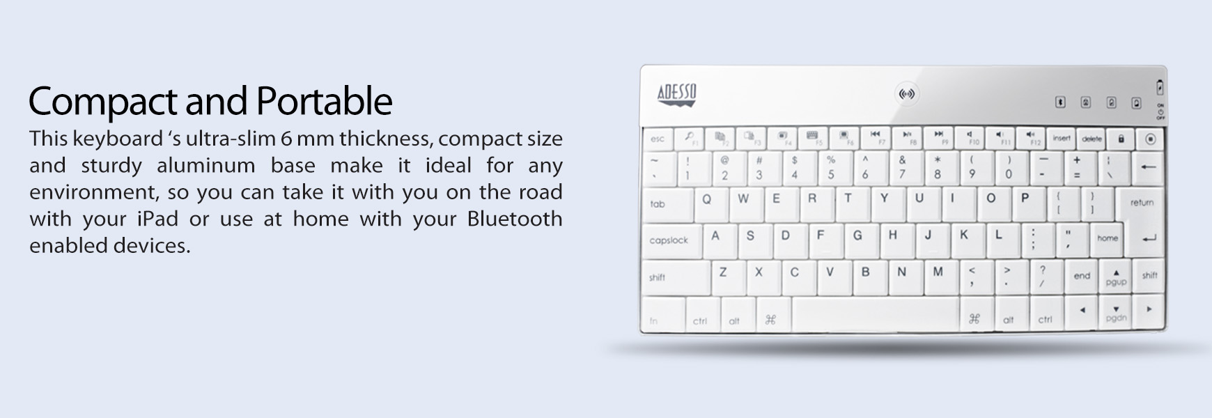 Compagno X Aluminum Bluetooth Keyboard With Universal Case Stand