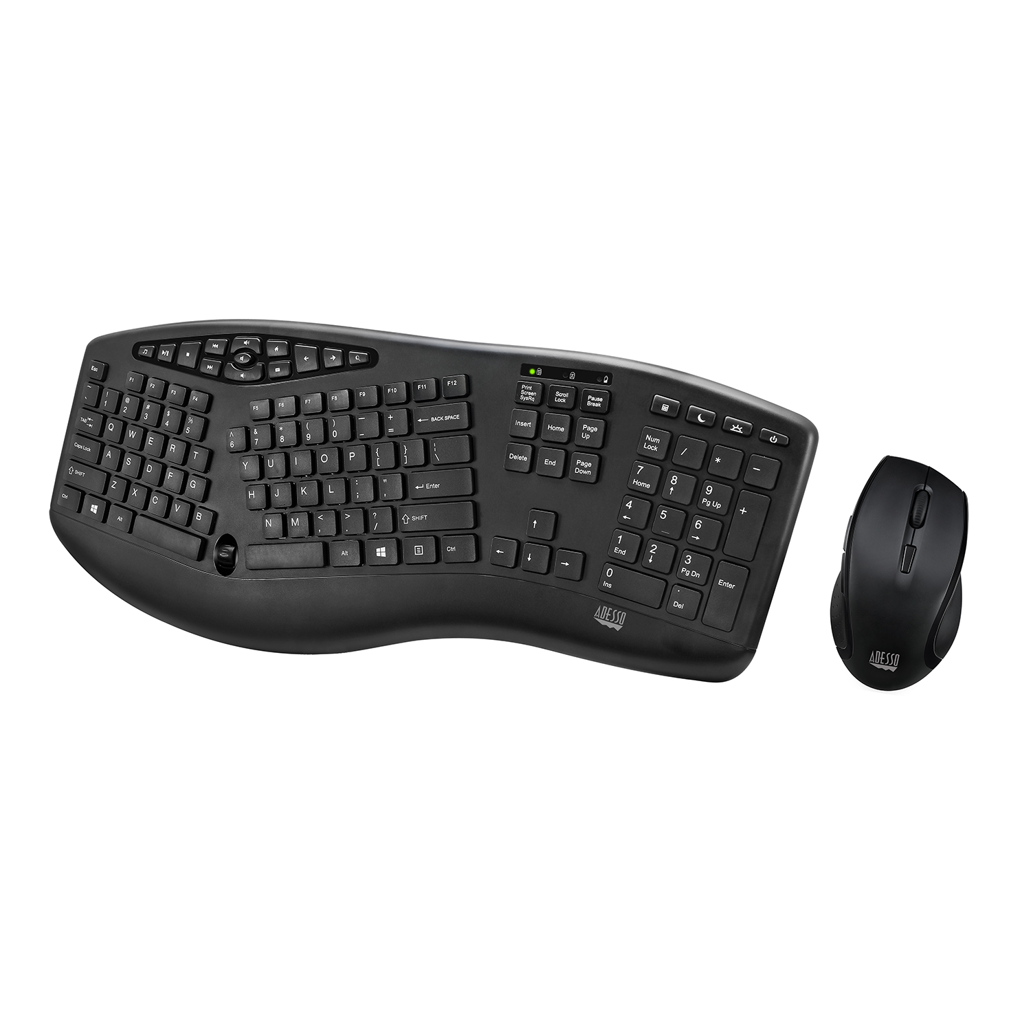 76227660531 TruForm™ Media 1600 - Wireless Ergonomic Keyboard and Optical Mouse - Adesso  Inc ::: Your Input Device Specialist :::