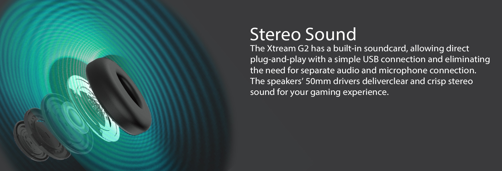 Stereo USB Gaming Headphone/Headset with Microphone