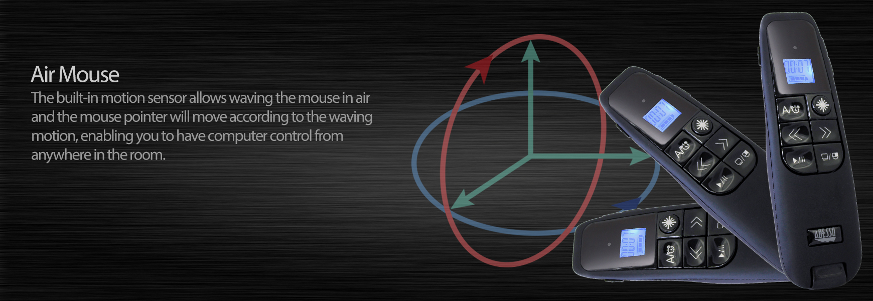 iMouse P30 - Wireless Presenter with Built-in Laser Pointer